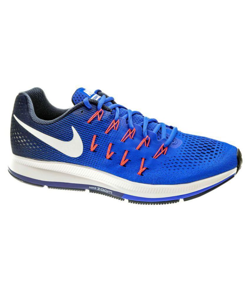 online store bfa58 4e5cb Nike Zoom Pegasus 33 Blue Running Shoes - Buy Nike Zoom Pegasus 33 Blue  Running Shoes Online at Best Prices in India on Snapdeal