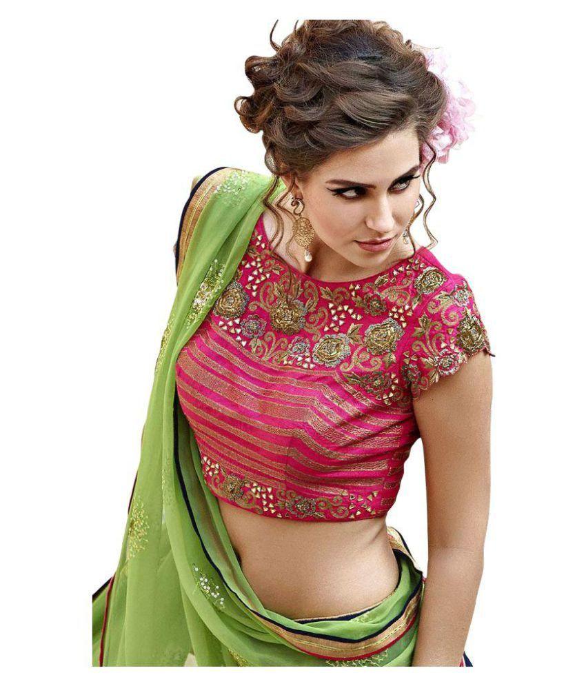 5a254984dc ... Fabboom New Special Multi Embroidery Banglori Silk Lehenga Choli