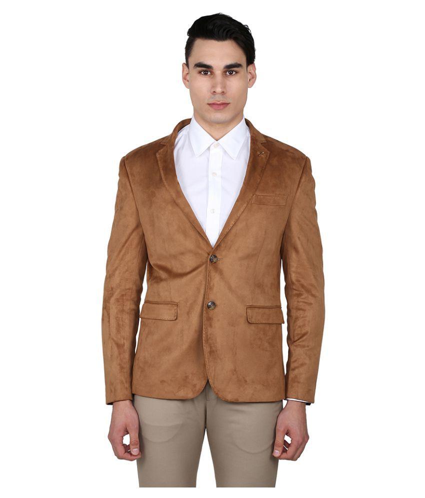 Arrow Brown Solid Casual Blazers