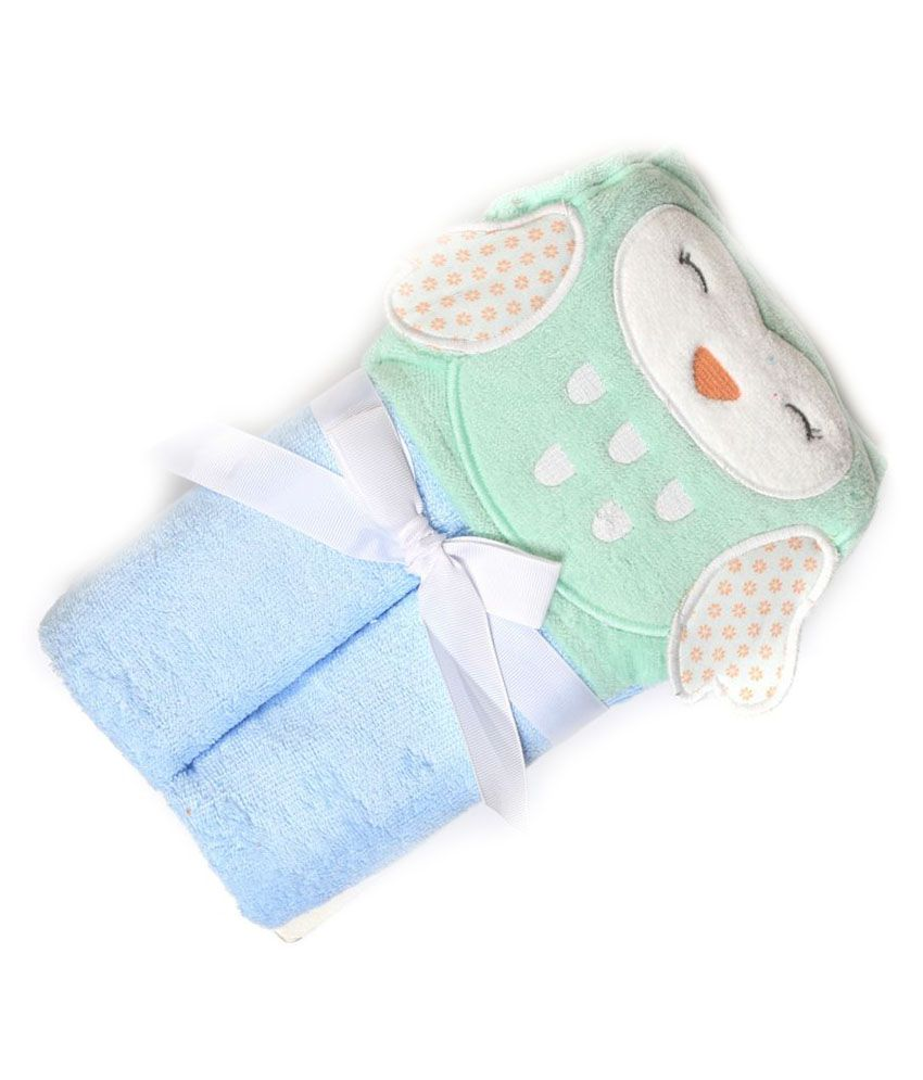 Baby Oodles Blue Cotton Bath Towels 1 Baby Towel