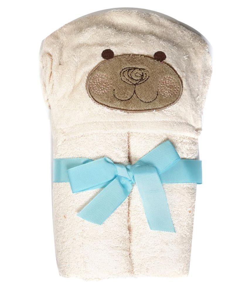 Baby Oodles Beige Cotton Bath Towels 1 Baby Towel