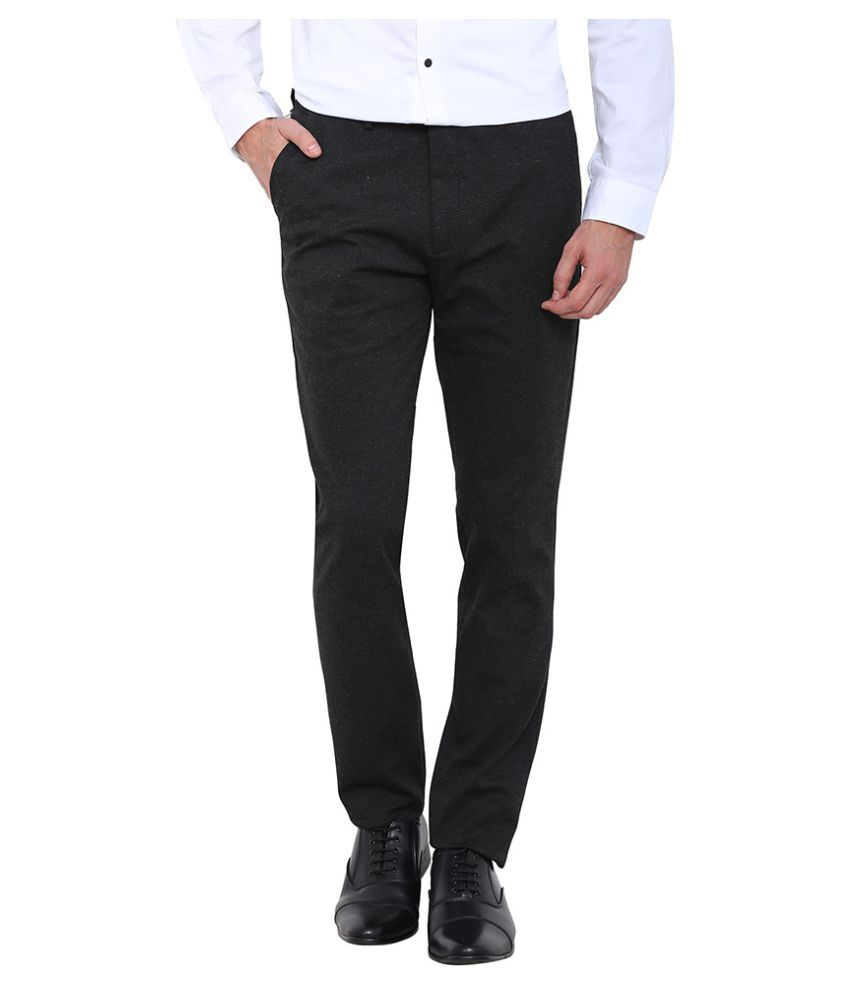 Arrow New York Grey Slim Flat Trouser