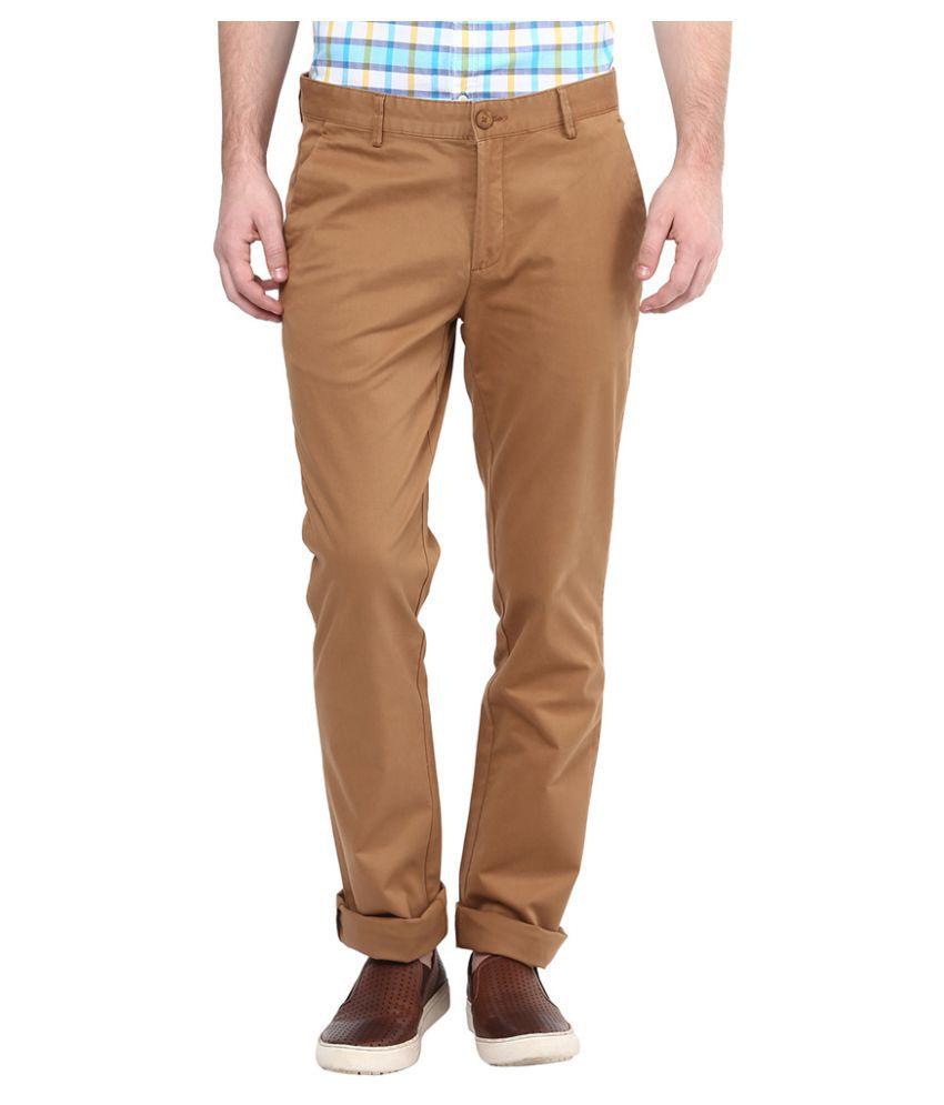 Turtle Brown Slim Flat Trouser