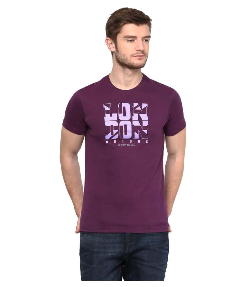 London Bridge Purple Round T-Shirt