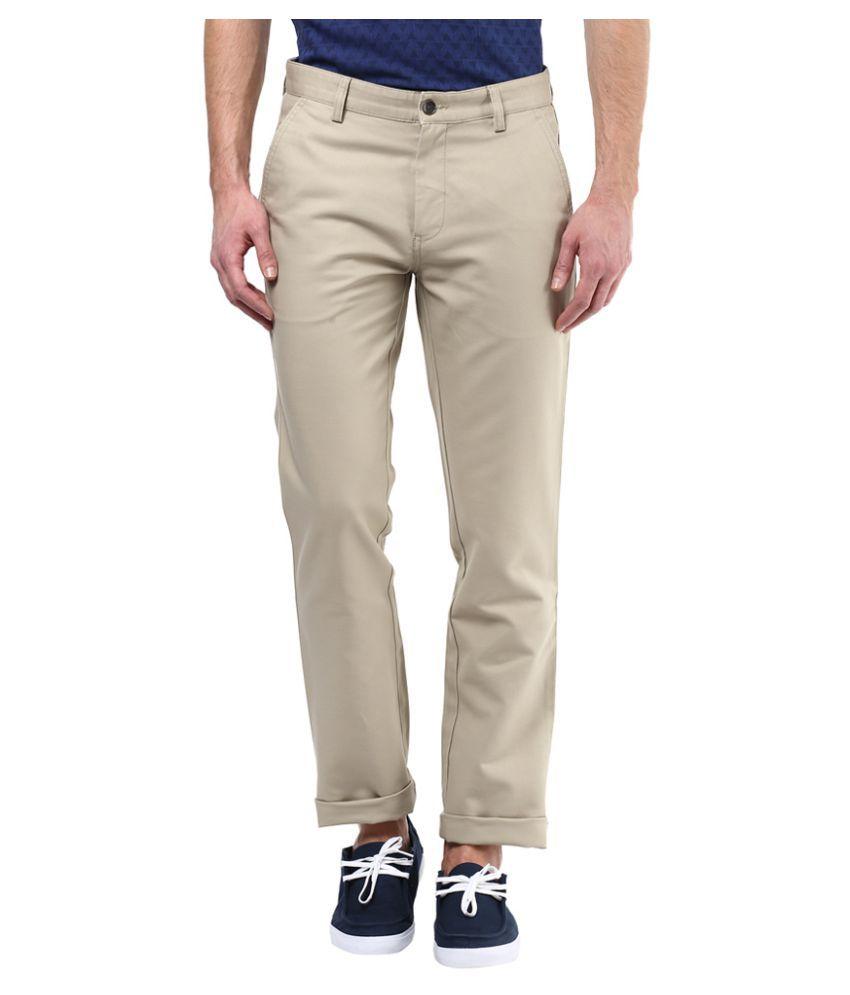 Turtle Beige Slim Flat Trouser