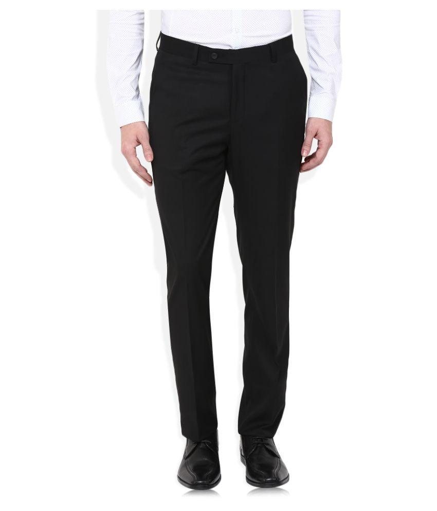 Giovani Black Slim Flat Trouser