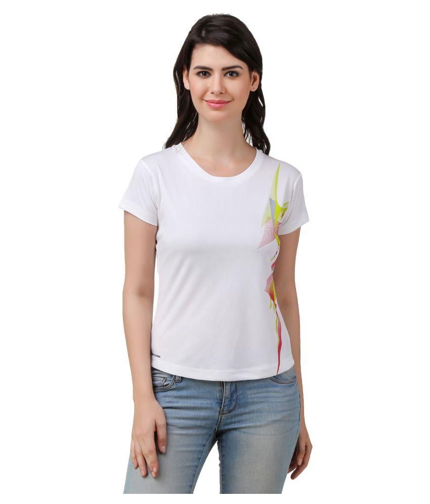 Spunk White Polyster T-Shirts