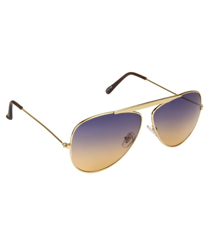 Vespl Blue Aviator Sunglasses ( V-2016 )