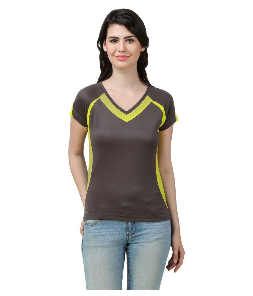 Spunk Brown Polyster T-Shirt