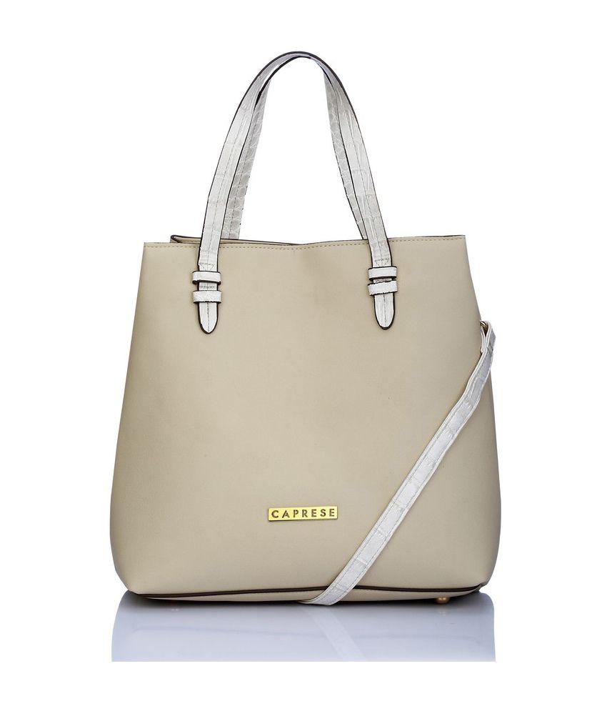 Caprese Beige Faux leather Shoulder Bag