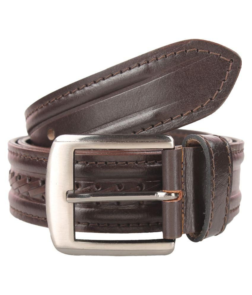 Umda Brown Leather Casual Belts