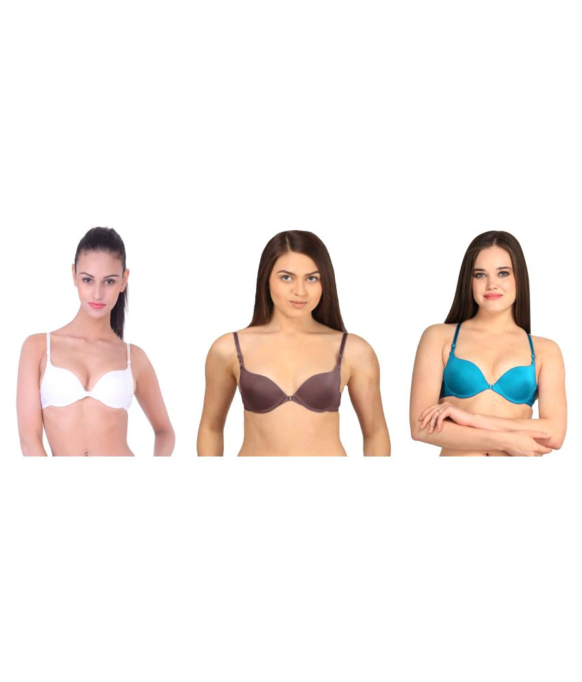 Dealseven Fashion Multi Color Nylon Push Up Bra