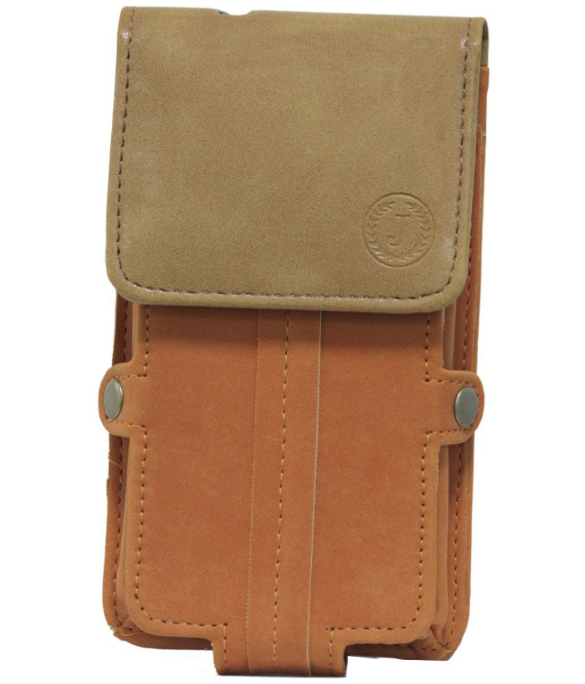 Lava A68 Holster Cover by Jojo - Brown