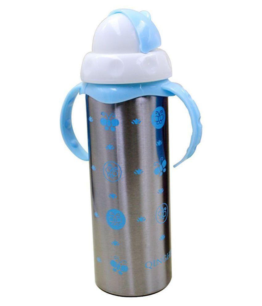 19e65164fbe ... N M Blue Multifunctional Baby Steel Feeding Bottle Cum Sipper Cum Straw  ...