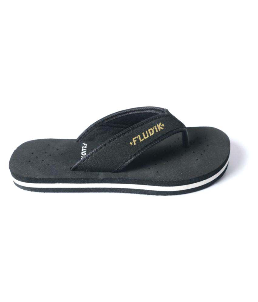 Fludik Black Slippers