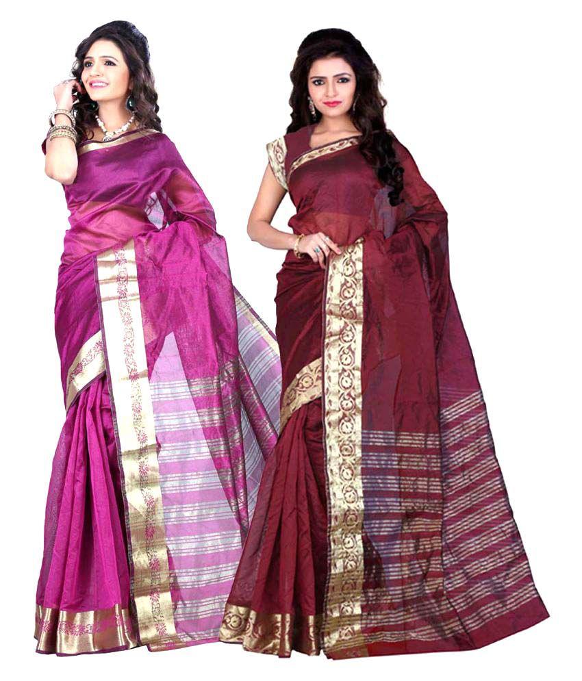 Jayant Creation Multicoloured Banarasi Silk Saree Combos