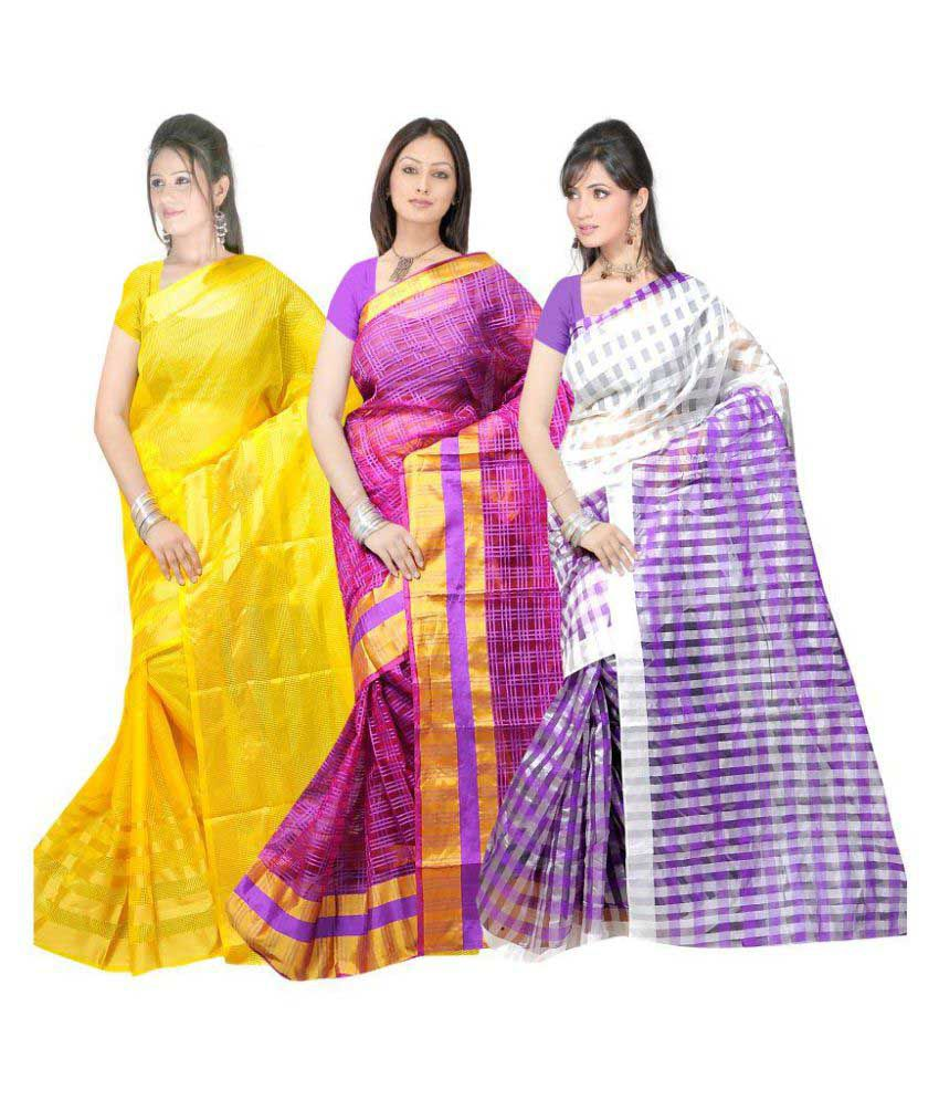 Shri Sai International Multicoloured Cotton Saree Combos
