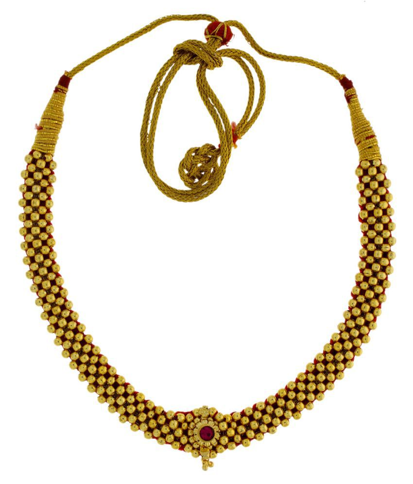 Anuradha Art Golden Necklace