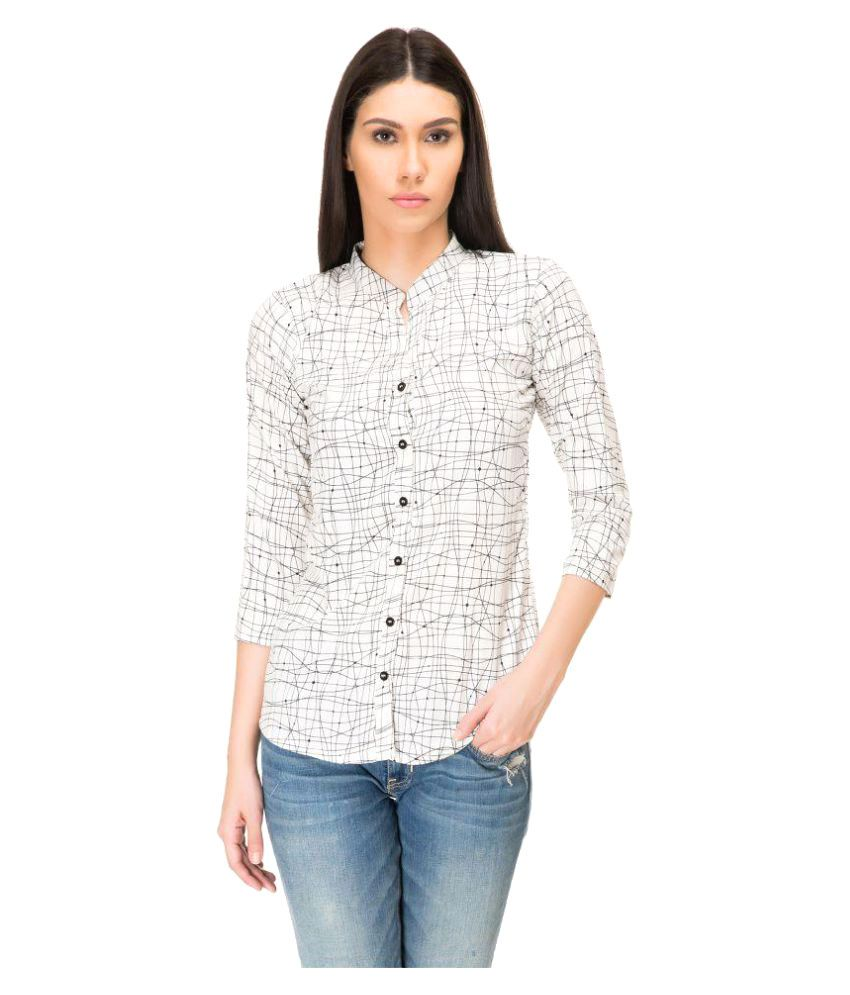 Adyuth White Poly Crepe Shirt