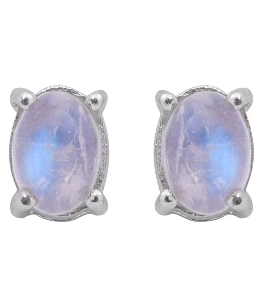 Shine Jewel 92.5 Silver Moonstone Studs
