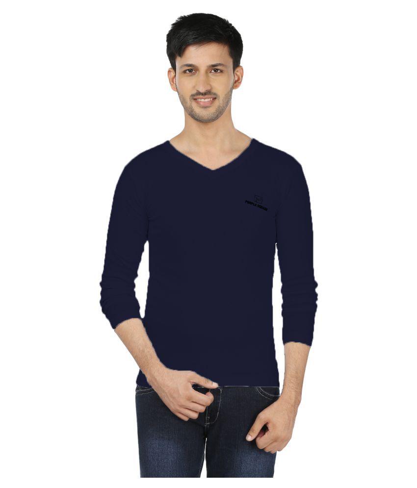 Black Unicorn Blue V-neck T-Shirt