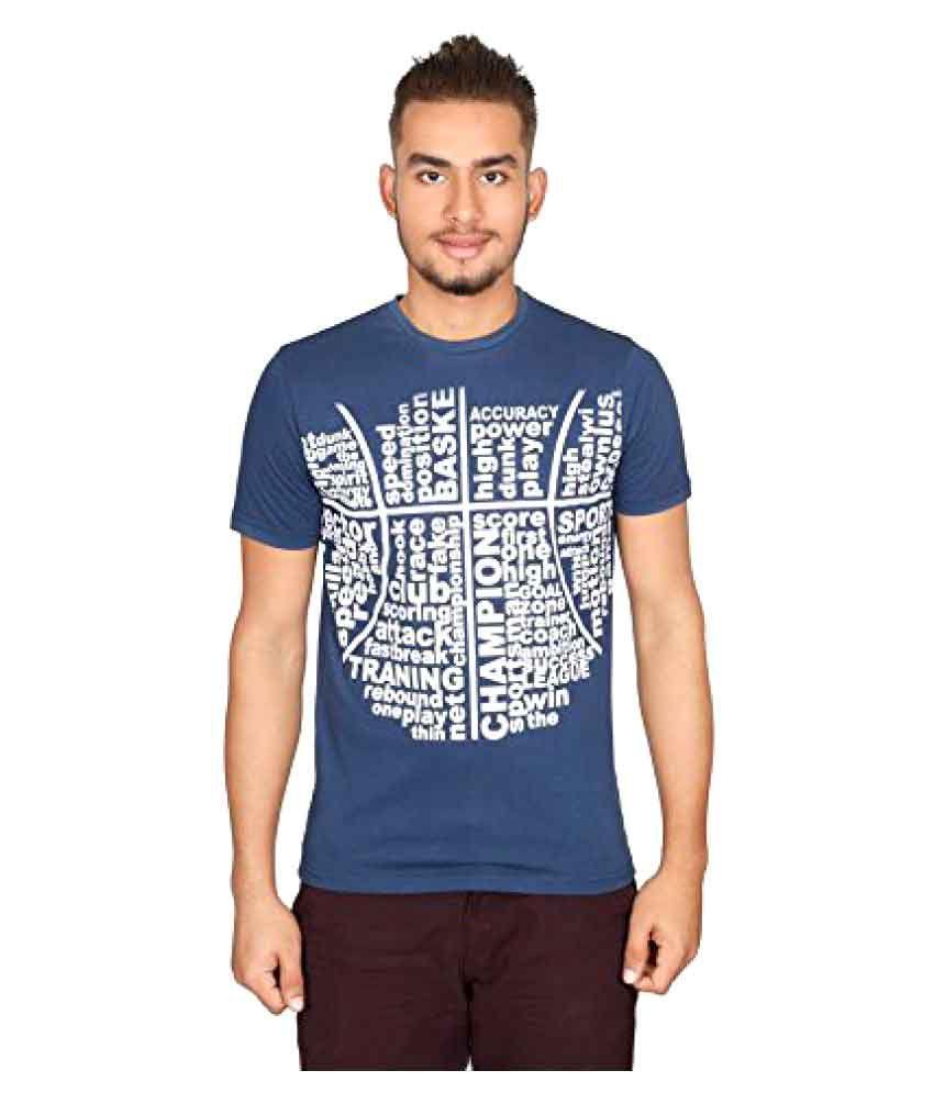 Vector X Vtc-001-b Half Sleeves Cotton Round Neck T-shirt
