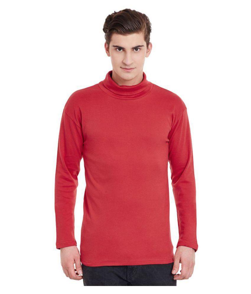 Hypernation Red High Neck T-Shirt