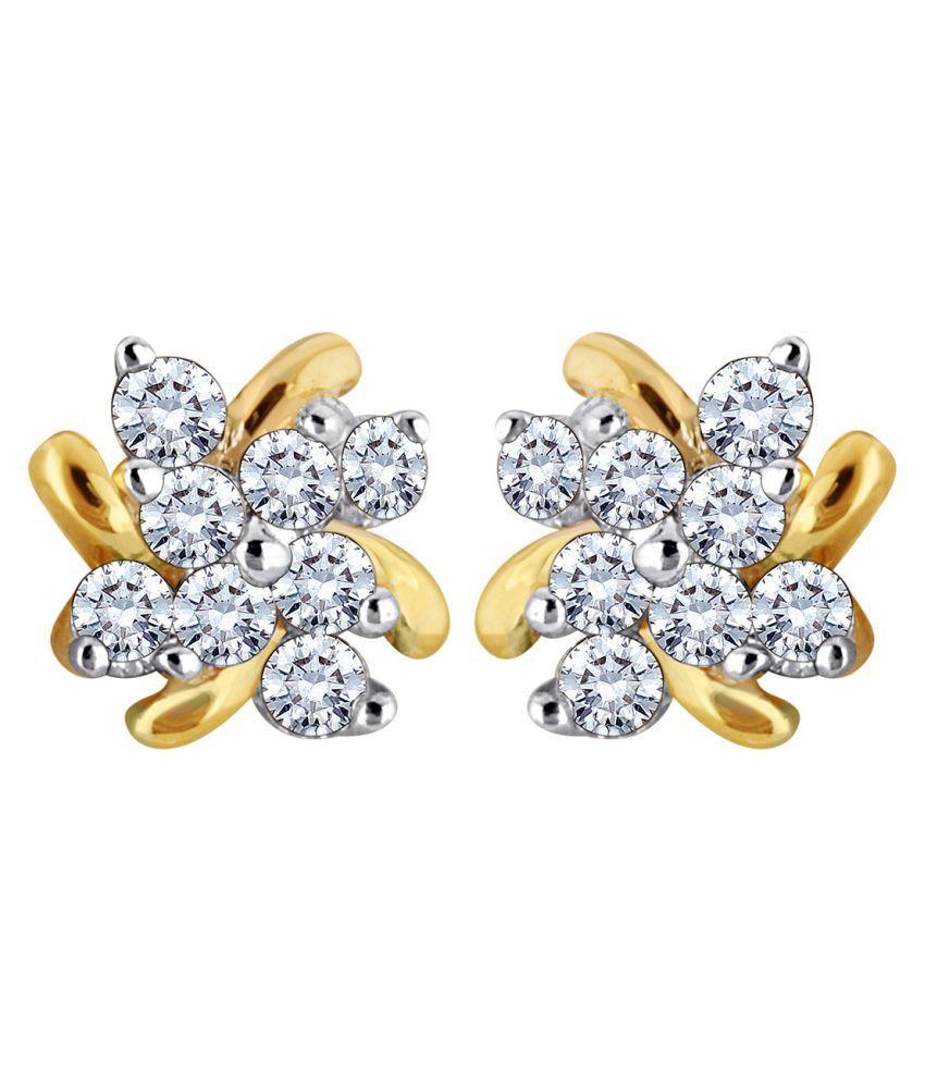 Myzevar 14K Gold Diamond Studs