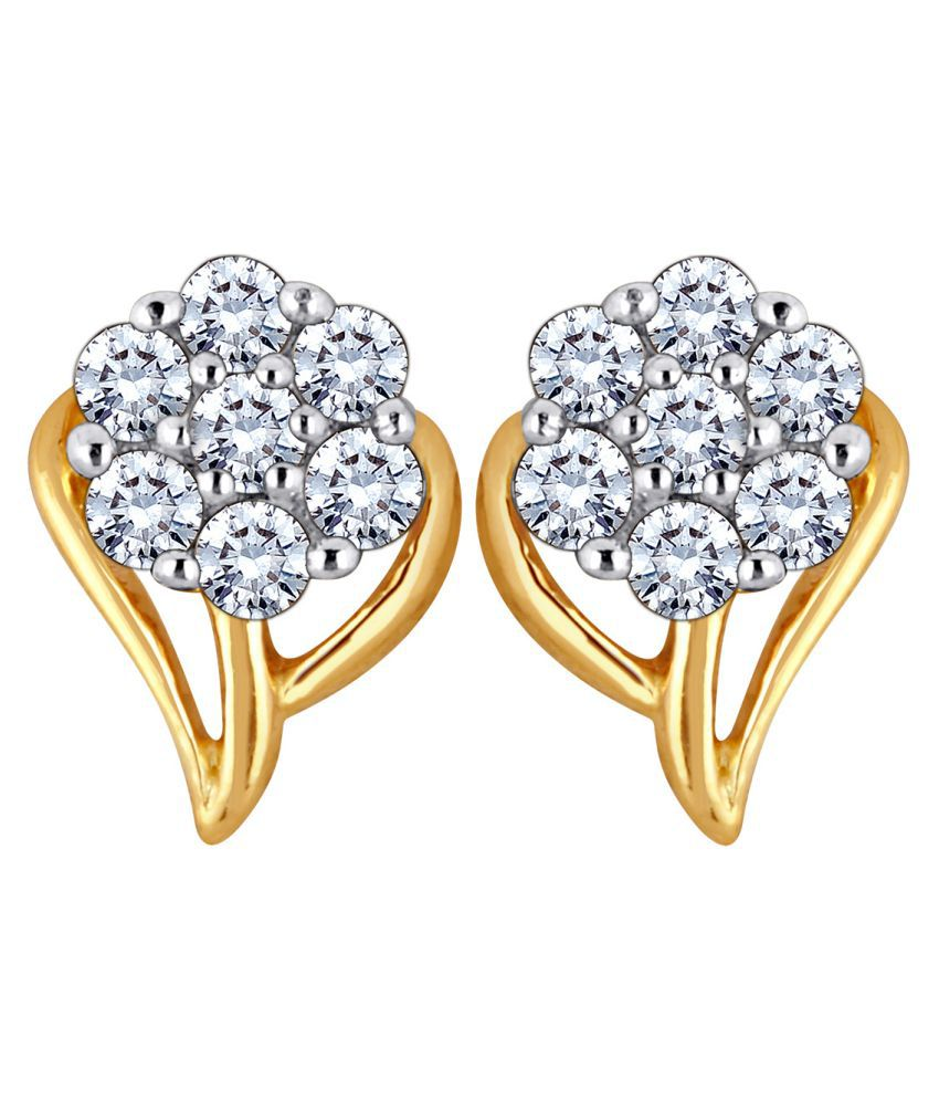 Myzevar 14K White Gold Diamond Studs