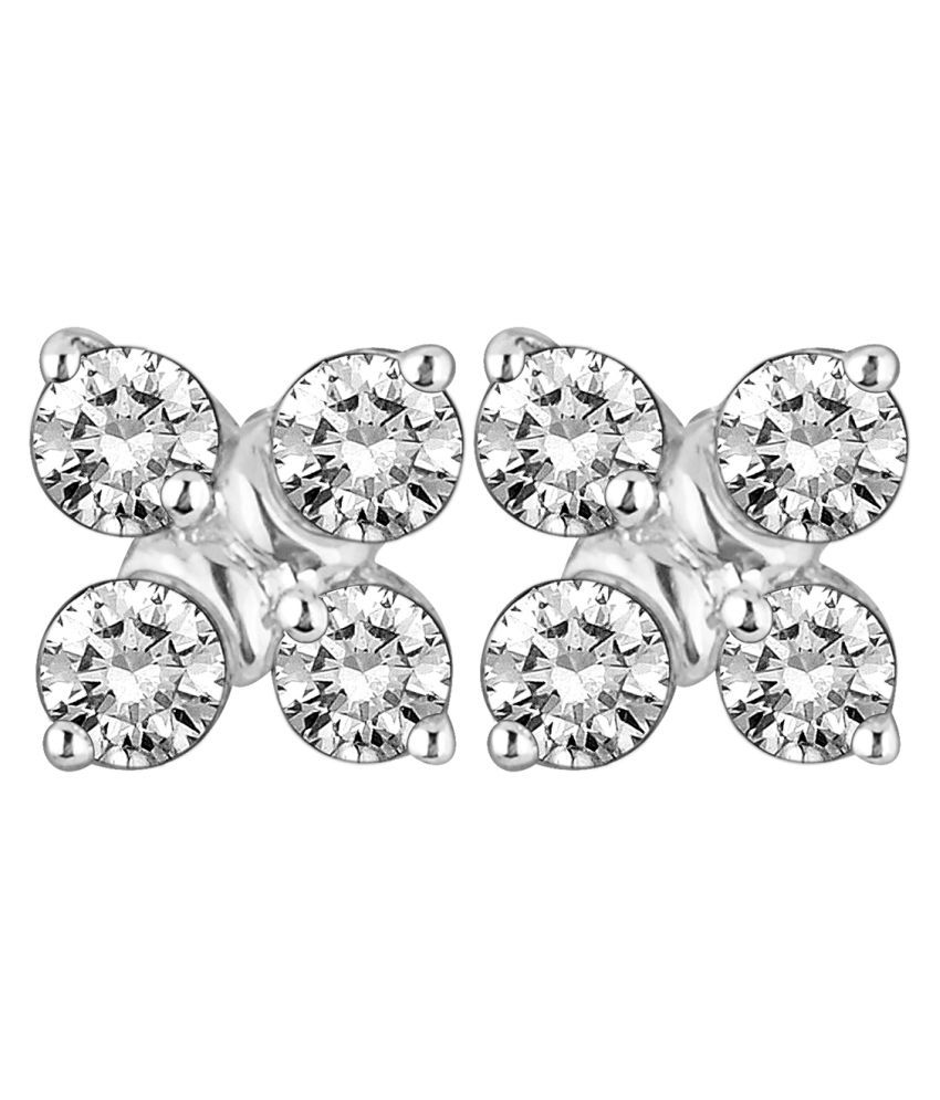 Myzevar 18K Gold Diamond Studs
