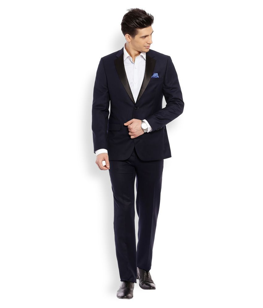 Raymond Blue Solid Formal Suit