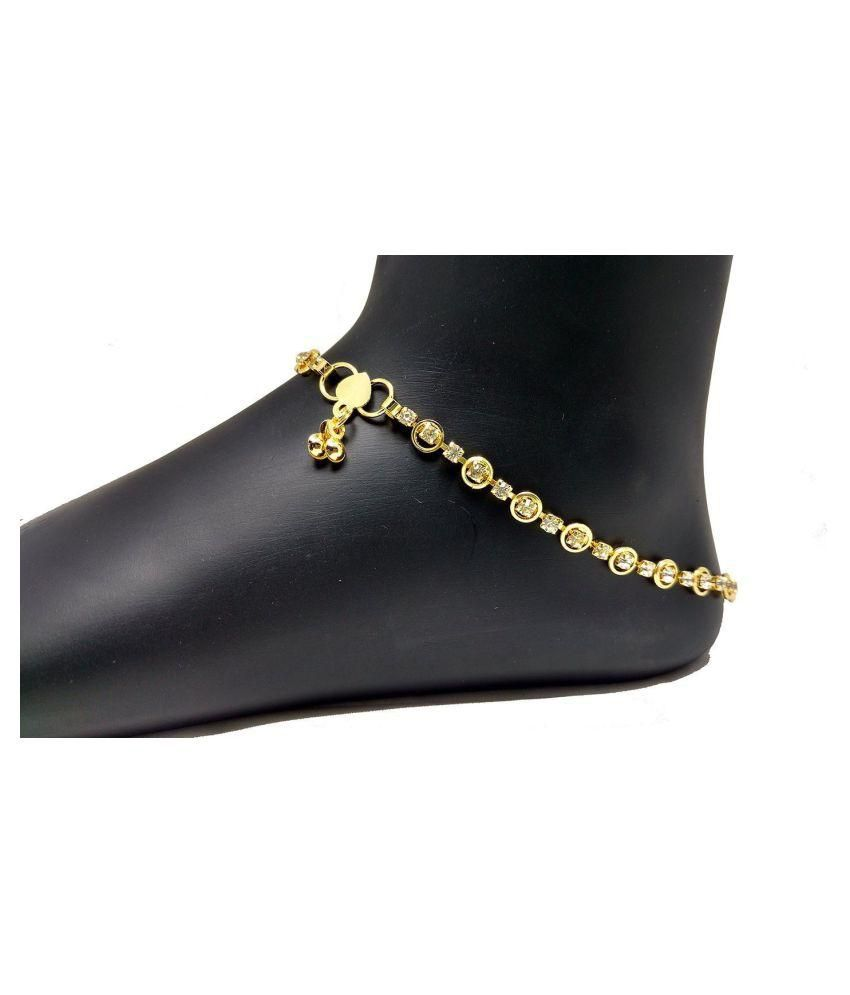 Charms Gold Alloy Anklet
