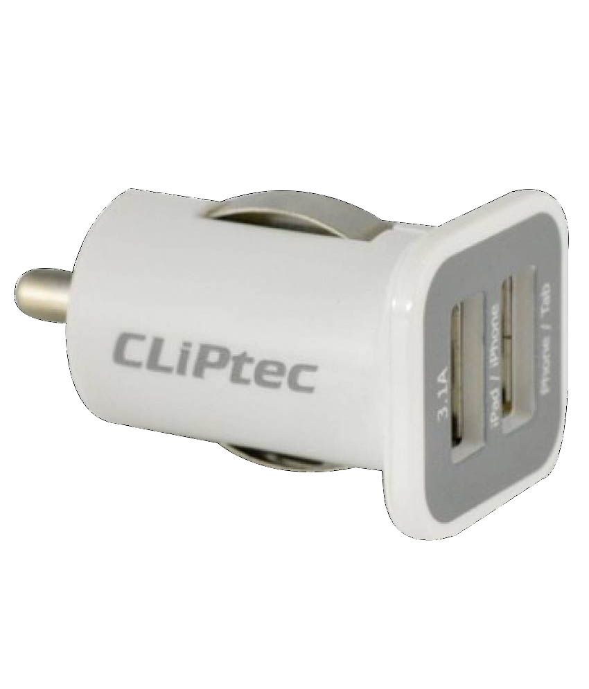 CLiPtec Car Mobile Chargers   White