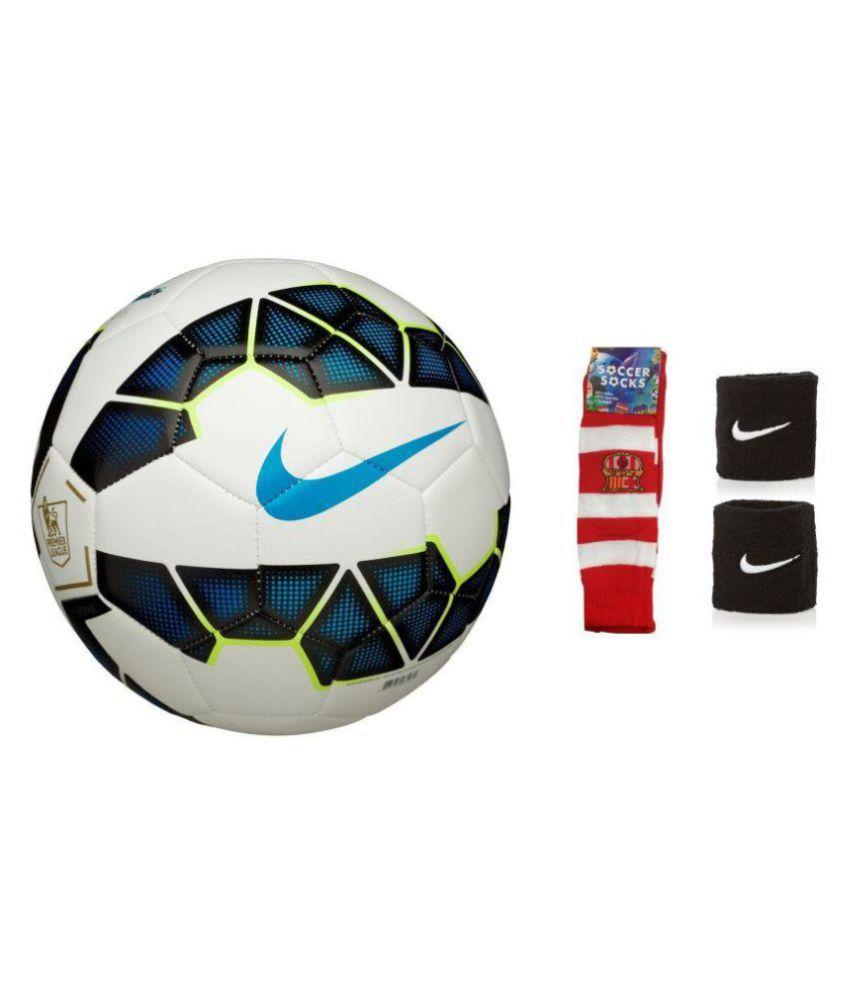 wholesale dealer 22fad 4411e Nike Premier League Blue (Replica) Football / Ball with Free Soccer Socks &  Wrist Band