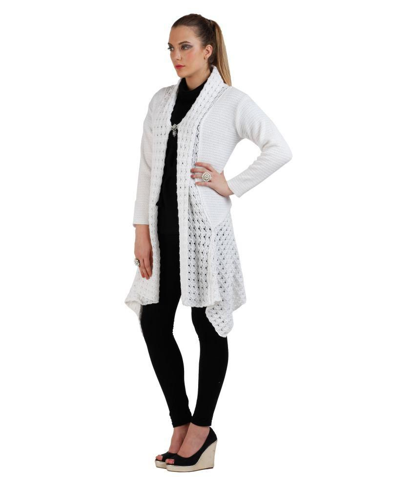 5643a471efa Buy Skidlers White Woollen Shrugs Online at Best Prices in India ...