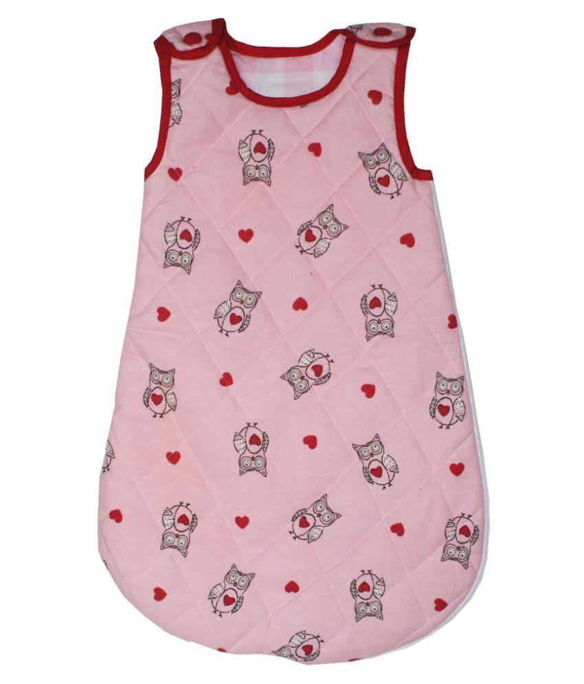 Kadambaby Pink Cotton Sleeping Bags ( 71 cm × 48 cm)