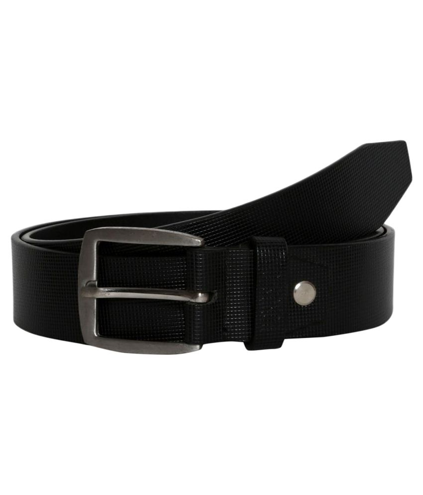 Fedrigo Black Leather Formal Belts