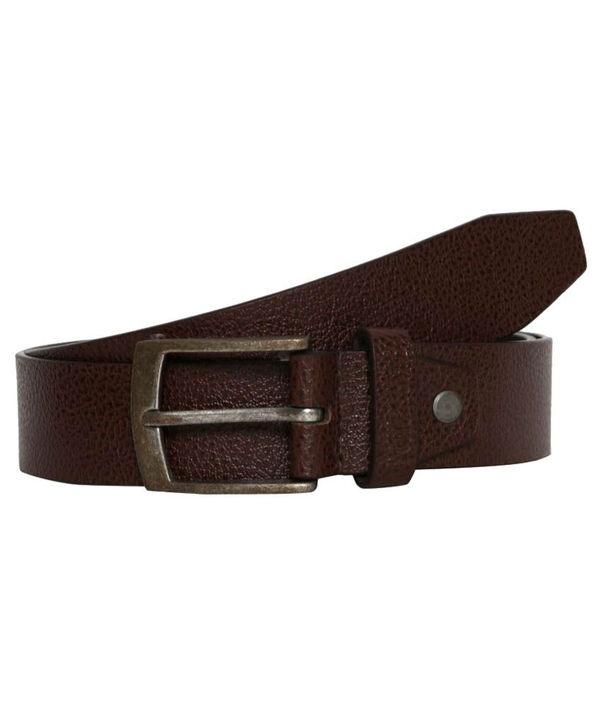 Fedrigo Brown Leather Formal Belts