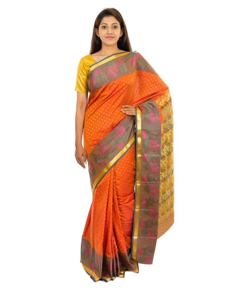 6152abee91c90 The Chennai Silks Brown and Orange Art Silk Saree - Buy The Chennai Silks  Brown and Orange Art Silk Saree Online at Low Price - Snapdeal.com