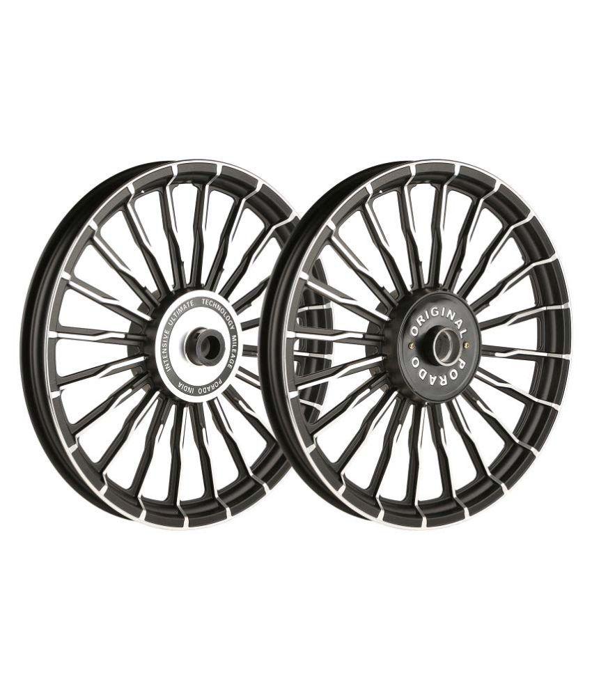 Autofy Porado 20 Wave Spokes Black Chrome Alloy Wheels For Royal Enfield Bullet 350 500cc Usa Spec Colour Wiring Diagram Standard