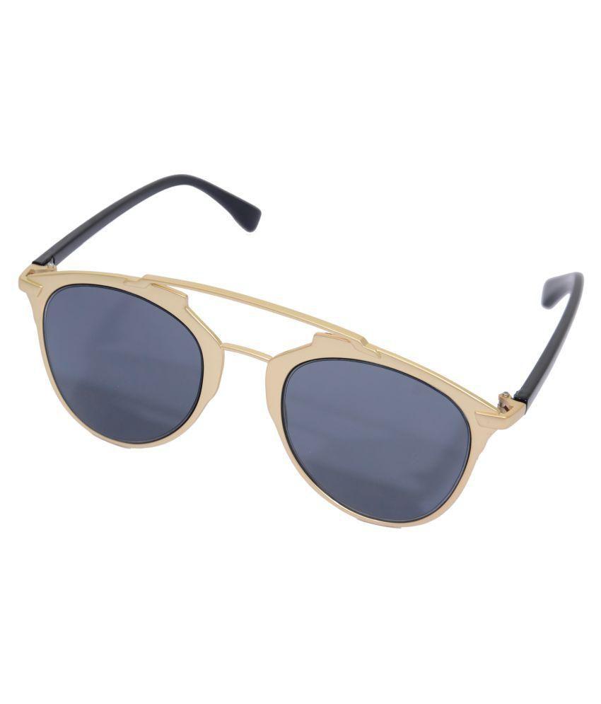 Eye Candy Black Oval Sunglasses ( ME8429 )