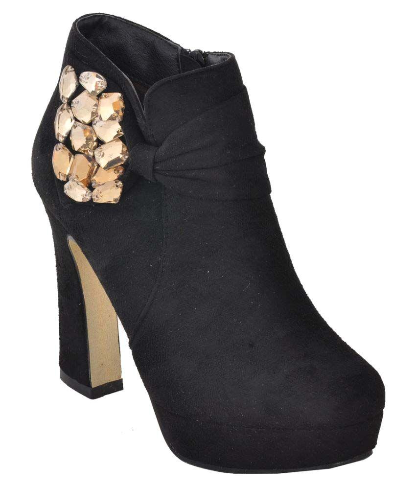 Hamlyn Shoes Black Block Heels