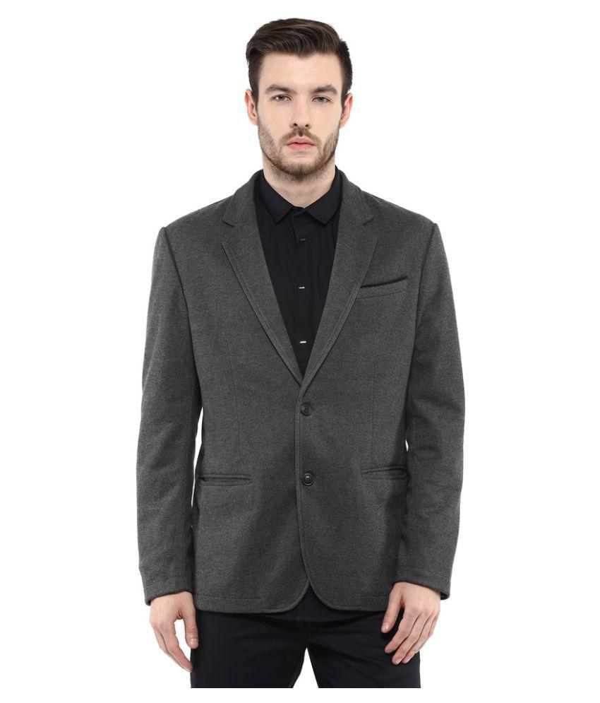 Mufti Grey Solid Casual Blazers - Buy Mufti Grey Solid Casual Blazers Online At Low Price In ...