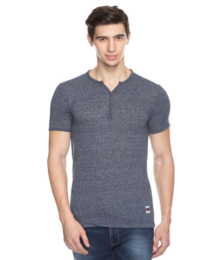 Status Quo Grey V-Neck T-Shirt