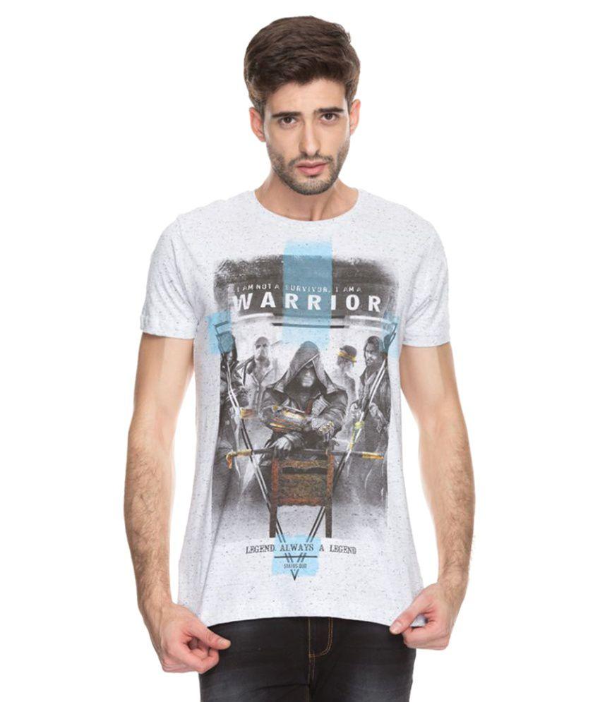 Status Quo White Round T-Shirt