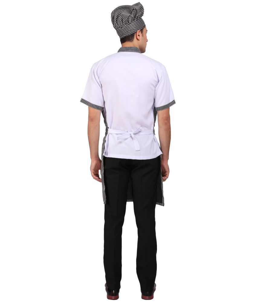 White apron and cap