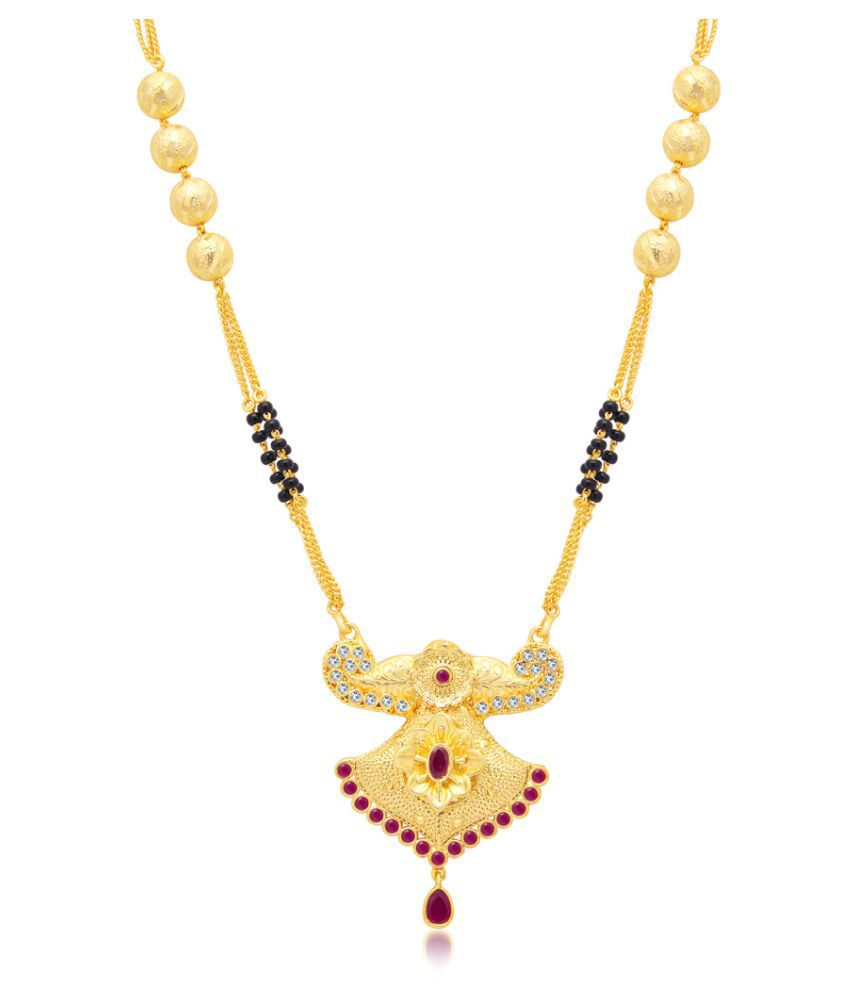 Sukkhi Attractive Gold Plated AD Mangalsutra For Women