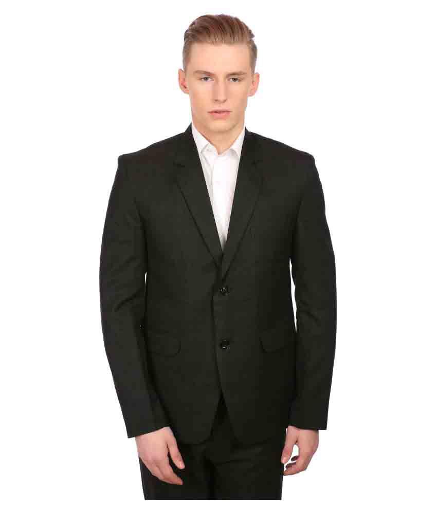 Wintage Black Checks Formal Suit No