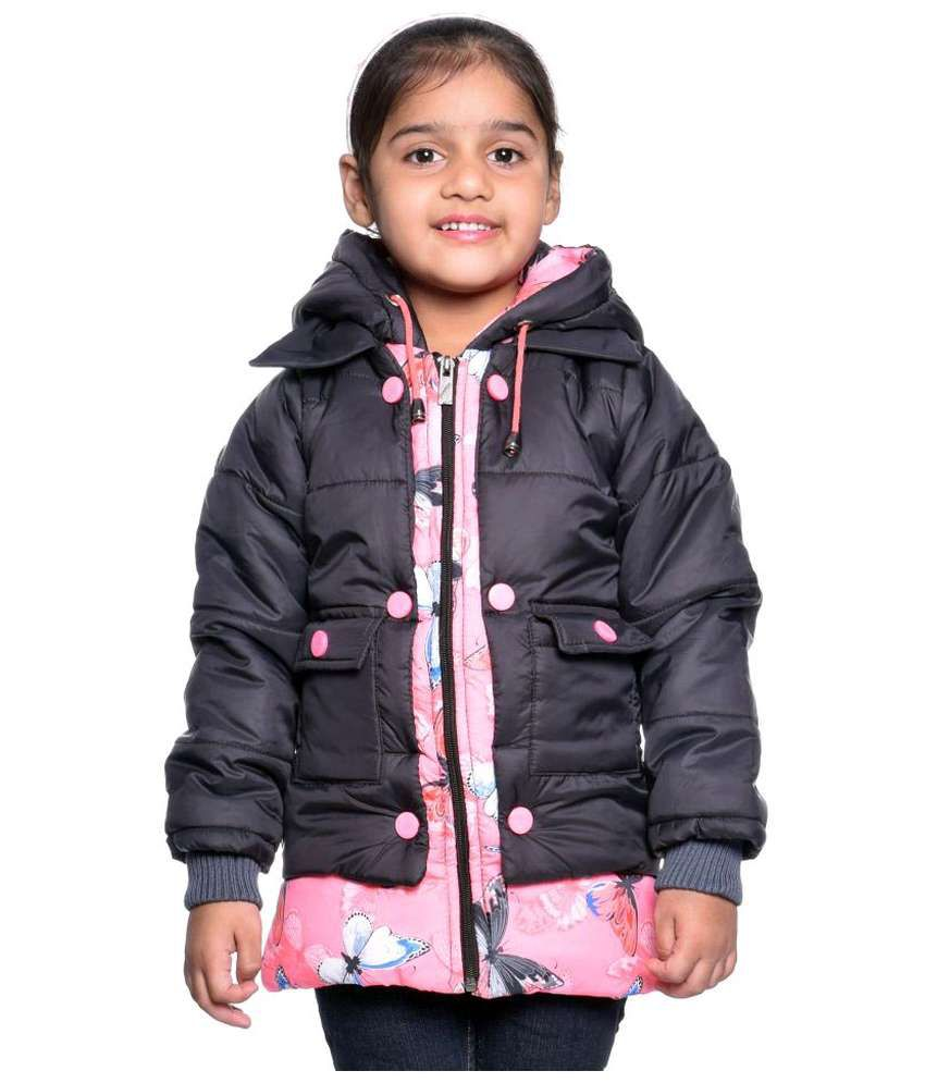 Come In Kids Black Solid Jacket