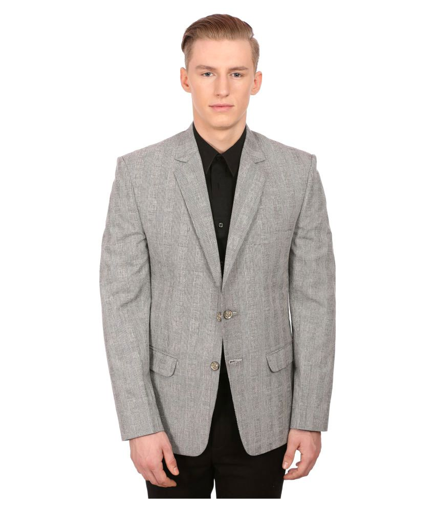Wintage Grey Checks Party Blazers
